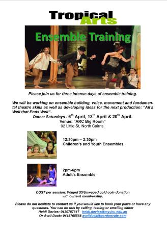 Ensemble Training flyer